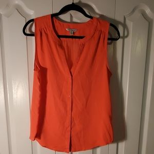 New American Eagle Orange Button down blouse M
